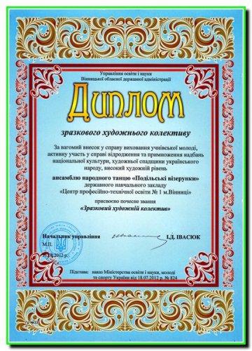 """Ансамбль народного танцю""""Подільські візерунки"""" ЦПТО-1 м.Вінниці"""