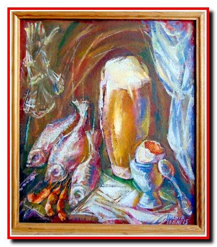 """""""Спокуса Алена Бомбара"""" розмір 40х35 см. к.о. (картон,олія). 2015 рік. Ціна 125$."""