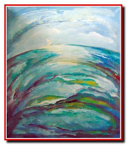 """""""Крапля моря"""". Полотно, олія. Розмір 80х65 см. 2001 рік. Ціна 2000 $."""