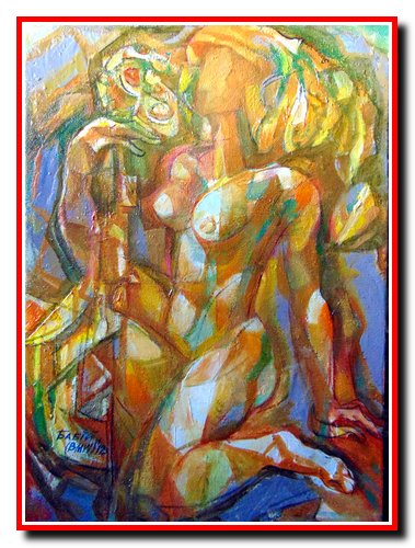 """""""Жінка в музиці - І"""". Полотно, олія. Розмір 60х40 см. 2012 рік. Ціна 200 $."""