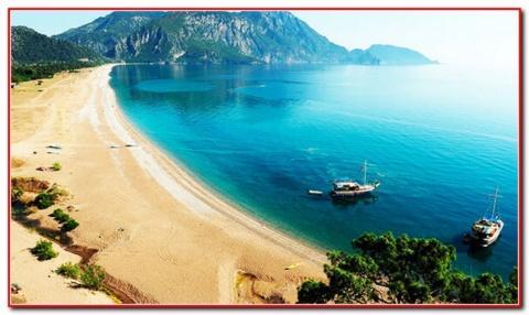 Пляж Турції. Відпустка